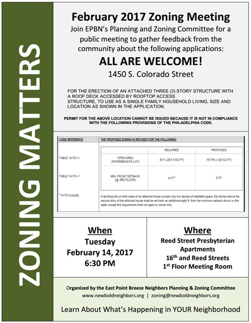 1450 S. Colorado St Zoning Meeting Notice
