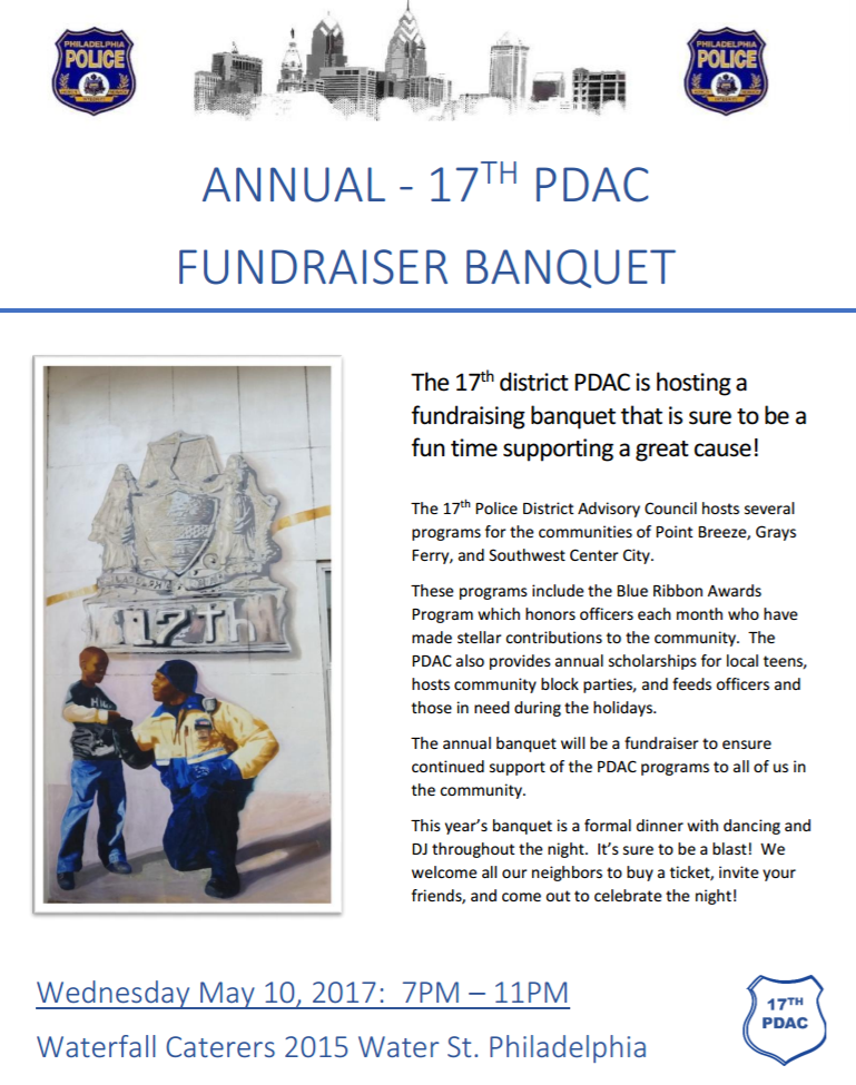 17th District PDAC Annual Banquet Flyer
