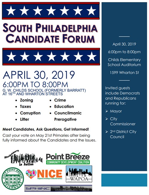 2019 South Philly Candidate Forum v1