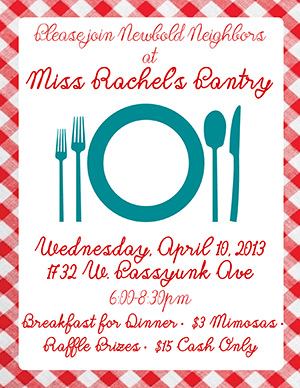 Miss Rachel's Dinner Night Invite